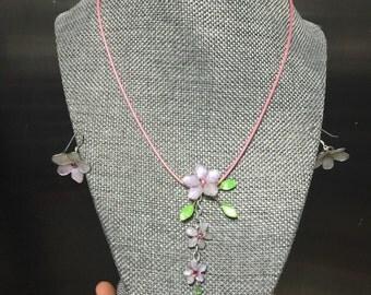 Violet Pixie Garden jewelry set