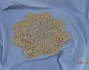 yellow doily