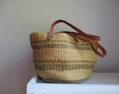 straw sisal purse woven bucket bag in clay earth tones tote purse summer Fashion Boho bucket bag Raffia Hobo market bag
