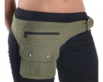 UTILITY BELT - assorted colours, fanny pack, Pocket belt, Festival belt, canvas pocket belt, cnbedp