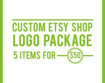 Etsy Banner, Logo Design, Custom Branding Package, Etsy Shop Branding Package, Custom Banner, Custom Logo, Etsy Shop Logo, Etsy Branding