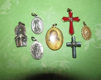 Vintage Religious Medals  for Parts Crafts Destashed #4