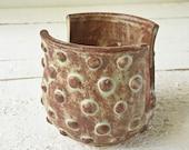 Brown Pottery Sponge Holder, Ceramic Sponge Holder, Ceramics, Pottery, Polka Dots, Wheel Thrown Pottery, Handmade