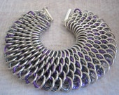 Dragonscale Bracelet Gargoyle Tower Aluminum Chain Maille Jewelry