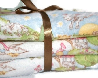Mother Goose Burp Cloth - Flannel Burp Cloth - Baby Burp Cloth - Burp Cloth Set - Baby Gift Set - Baby Boy - Baby Girl - Burp rags - Diapers