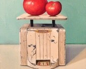 """Original Oil Painting Entitled, """"Tomatoes, Universal scale"""" ~ Still Life Realism Canvas 10"""" Square Wall Art Painting, Vintage Still Life"""