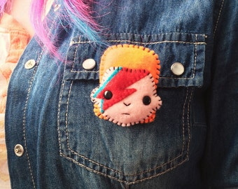 Felt Brooch - David Bowie