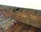 """Reclaimed Vintage Barnwood Mantle Beam Reclaimed Wood Mantle Barn Wood Beam 63.25"""""""