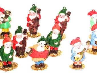 Vintage lot of plastic elves elf decorations crafting supplies Christmas decor pixies