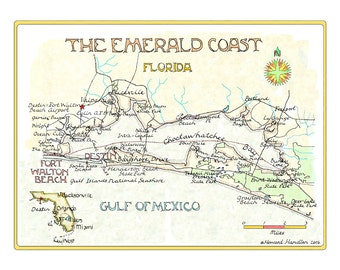 Florida's Emerald Coast in Two Sizes