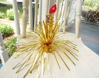 Christmas Candle Ornament Made In Japan Vintage 1960s