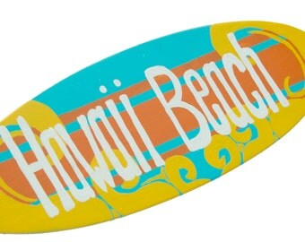 Surfboard Banner - Personalized Beach Themed Party Decorations - 18 inch