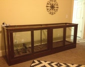 Antique Wood & Glass Display Cabinet