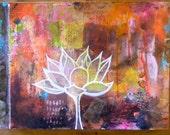Lotus // Lotus flower // zen // collage // original painting