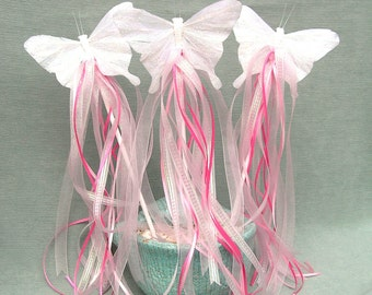 PRINCESS Party, FAIRY Party, BUTTERFLY Wand, Magical Birthday, Woodland Theme, Ribbon Wands, Party Favor