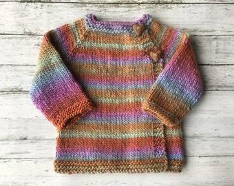 hand knit baby cardigan newborn