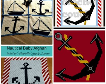 C2C Graph, Set of 4 Patterns - Nautical Package