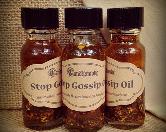 Stop Gossip Oil - hoodoo voodoo candle magic kitchen witch