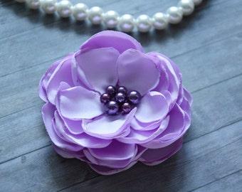 Purple Bridal Hair Flower, Silk Flower, Hair Clip, Lilac, Wedding, Hair Accessory, Bridesmaid, Hair Piece, Fascinator, Flower for Hair