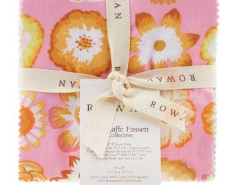 "Kaffe Fassett Collective 5"" Charm Park for Rowan - Pastel  - Cotton quilt fabric"