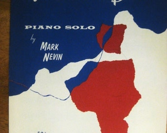 1962 Manhattan Blues Piano Solo Sheet Music by Mark Nevin