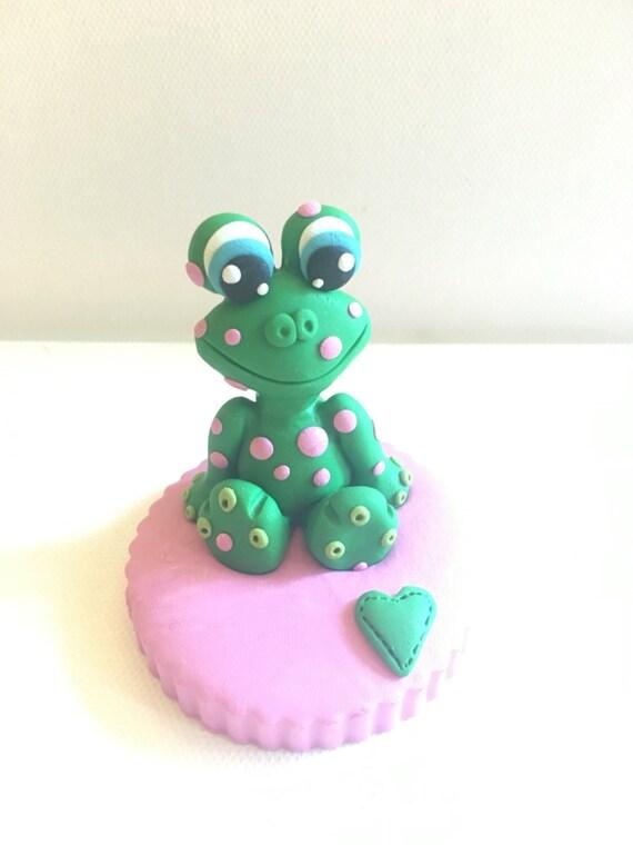 Frog Birthday Cake Figurine