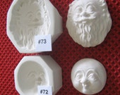 YOUR CHOICE - Rigid Polymer Clay Doll Face Cab Push Press Mold - Santa or Wizard, Mrs. Claus or Female Character by Art of Two M's