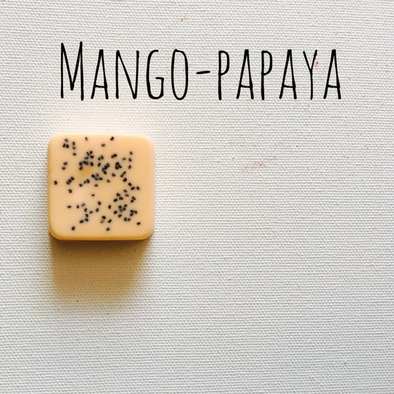 Mango-Papaya Mini Guest Soaps Set of 6
