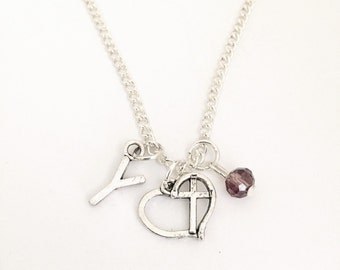 Personalized Love Cross Necklace