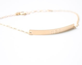 PI BETA PHI Sorority Bracelet - Greek Jewelry - Hand Stamped Bar Bracelet - Gold Filled, Sterling Silver - Licensed Designer