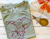 ELEPHANT Tshirt Bamboo T shirt Organic Cotton Clothing Womens Graphic Tee Womens T-shirt Women Top Womens Shirt