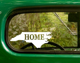 2 North Carolina Decals, Home State Map Stickers For Car Truck Window Bumper Rv Jeep 4x4 boat