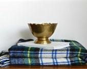Vintage Scottish Plaid Throw Blanket Dress Gordon Tartan Plaid Scottish Wool Stadium Tailgate Preppy Decor