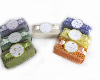 24 Organic Soap Wedding Favors - personalized - shower favors - party favors gift. MADE TO ORDER!