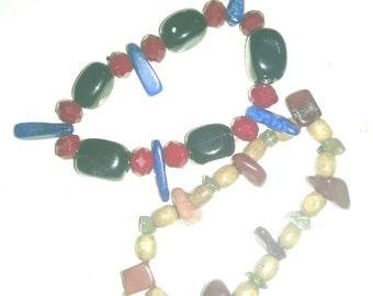 Pair of Beaded Stretch Bracelets