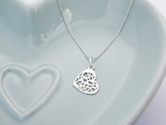 SALE - Silver Hearts Necklace - Sterling Silver