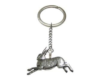 Running Rabbit Hare Pendant Keychain