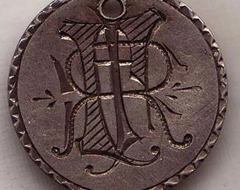 Ex Eliasberg Silver Love Token - US dime  1856 Seated Liberty Fancy Monogram PJR RJP
