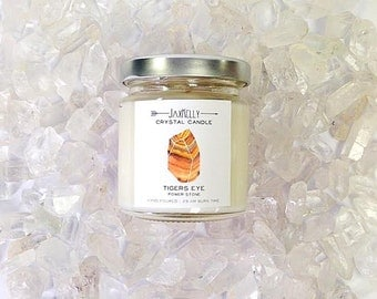 "Tiger's Eye Crystal Candle ""Little Sister"""