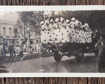 Original Antique Photograph The Carnival Parade