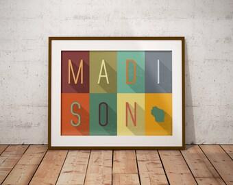 Madison Grid - Typography Print