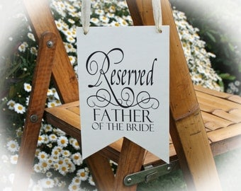 Reserved Row sign- Wedding Reserved Sign- Reserved sign Mother of the Bride -Father of the Bride-Mother of the Groom-3 Colors Available