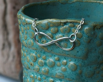 Infinity Symbol Necklace/ FREE Shipping*/Minimalist Infinity Necklace/ Handmade Infinity Symbol/ Sterling Necklace/ Infinity Necklace