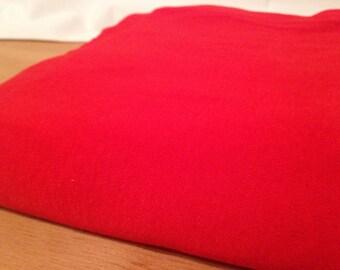 Bright Red Fabric F43
