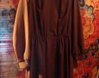 Vintage Caramel Brown Dress