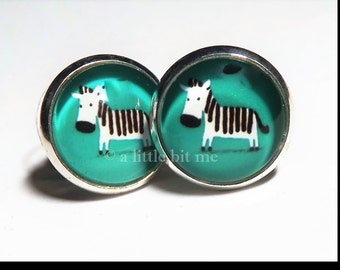 Zebra Earrings - Posts
