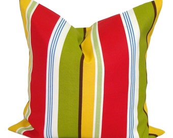 Outdoor Pillow Cover, Outdoor Decorative Pillow, Outdoor Throw Pillow, Striped Pillow, Pillow Covers, Stripe Pillow, Outdoor Cushion