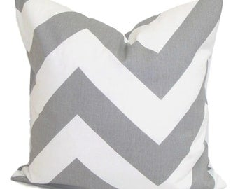 Gray Pillows, Gray Chevron Pillows, Grey Pillow Cover, Decorative Pillow, Gray Throw Pillow, Chevron Pillow, All Sizes, Euro, Grey Cushion