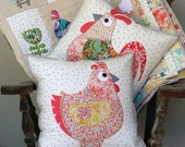 Chooks appliqué pattern - SALE! special price for Chinese New Year!! PDF instant download