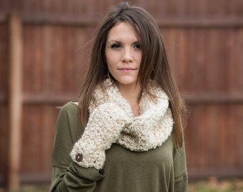 Cowl and Fingerless Gloves Set FREE SHIPPING
